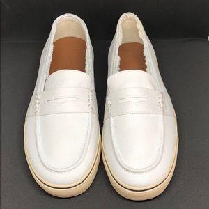 NWB RALPH LAUREN Men's Whitewashed Canvas Shoes